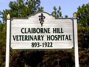 claiborne veterinary  sign sandblasted hdu woodgrain classic signs nc 640x480