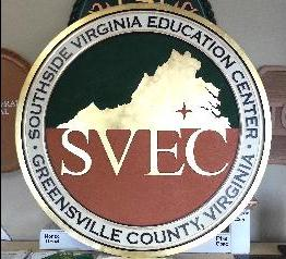svec seal routed sandblasted hdu sign 23kt gold leaf classic signs nc 262x238