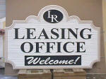 leasing office realtor sandblasted hdu sign from classic signs nc small