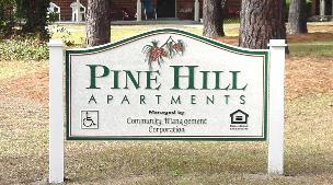 pinehill sandblasted hdu apartment sign from classic signs nc 300x169