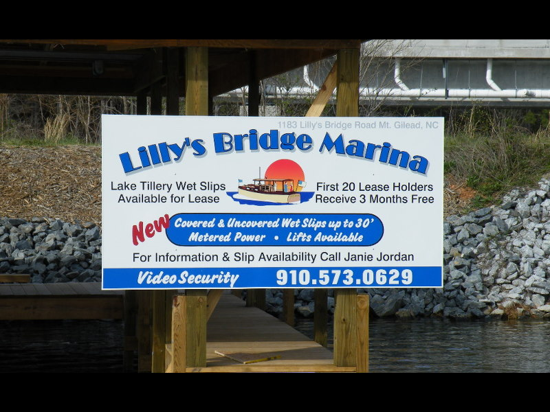 lillies bridge vinyl sign from classic signs nc 800x600