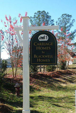 blackwell sandblasted builders site sign classic signs nc