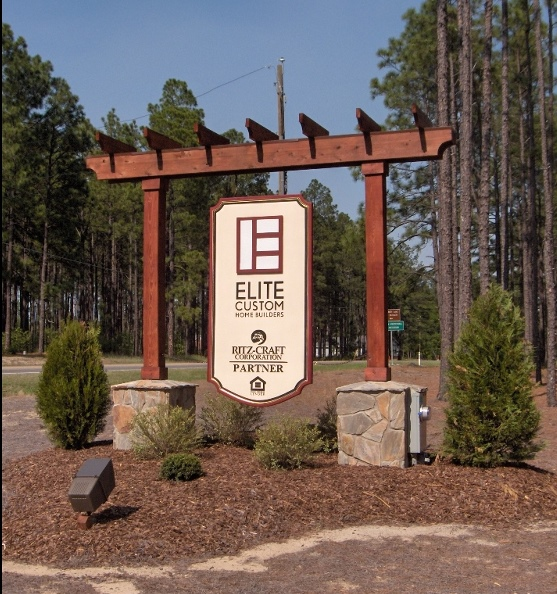 elite homes sandblasted hdu sign with steel skeleton reinforcing classic signs nc 800x600