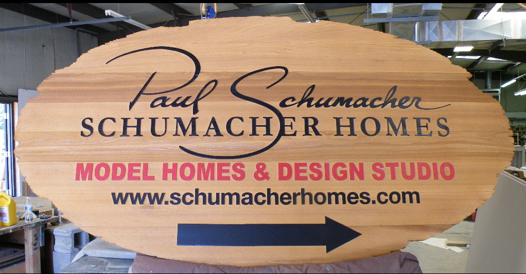 sandblasted cedar natural finish weathered edge schumacher main sign classic signs nc 1024x704