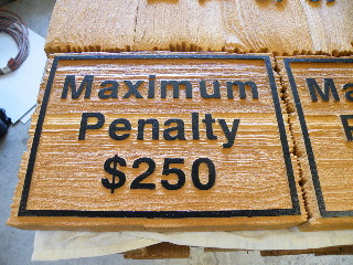 sandblasted cedar natural finish weathered edge schumacher max penalty 250 classic signs nc 320x240