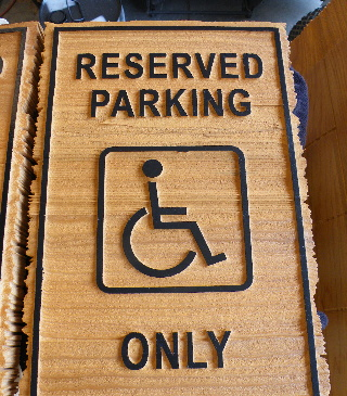 sandblasted cedar natural finish weathered edge schumacher reserved parking classic signs nc 320x240