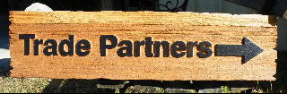 sandblasted cedar weathered effect schumacher homes builders sign trade partners  signblastersdotcom 320x240