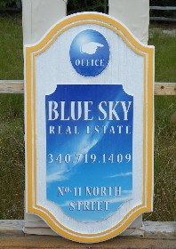 blue sky aberdeen cast molded sign classic signs nc 290x000