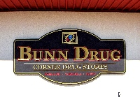 bunn drug routed sandblasted shop sign classic signs nc 200x133