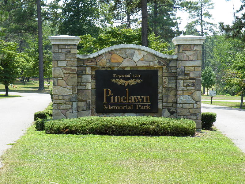 pinelawn cemetary custom cut aluminum letters on aluminum painted 19years old looks new classic signs nc 800x600