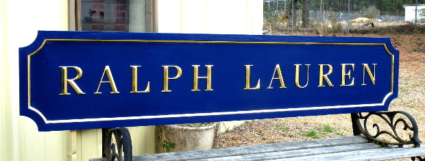 ralph lauren custom sign 23kt gold prismatic letters hand brushed background 2 classic signs nc 640x480