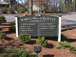 robbins may sandblasted hdu office park sign classic signs nc 320x240