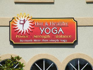 yoga sandblasted sign business classic signs nc 320x240