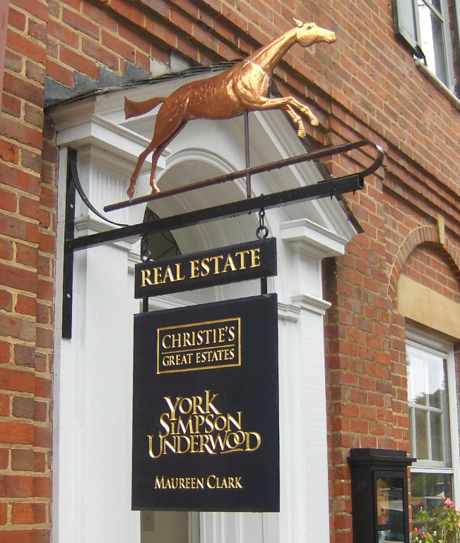 clark christies real estate sign routed hdu with 23kt gold leaf from classic signs nc 651x768
