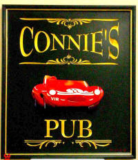 connie routed  handcarved pub sign full ver from classic signs nc small