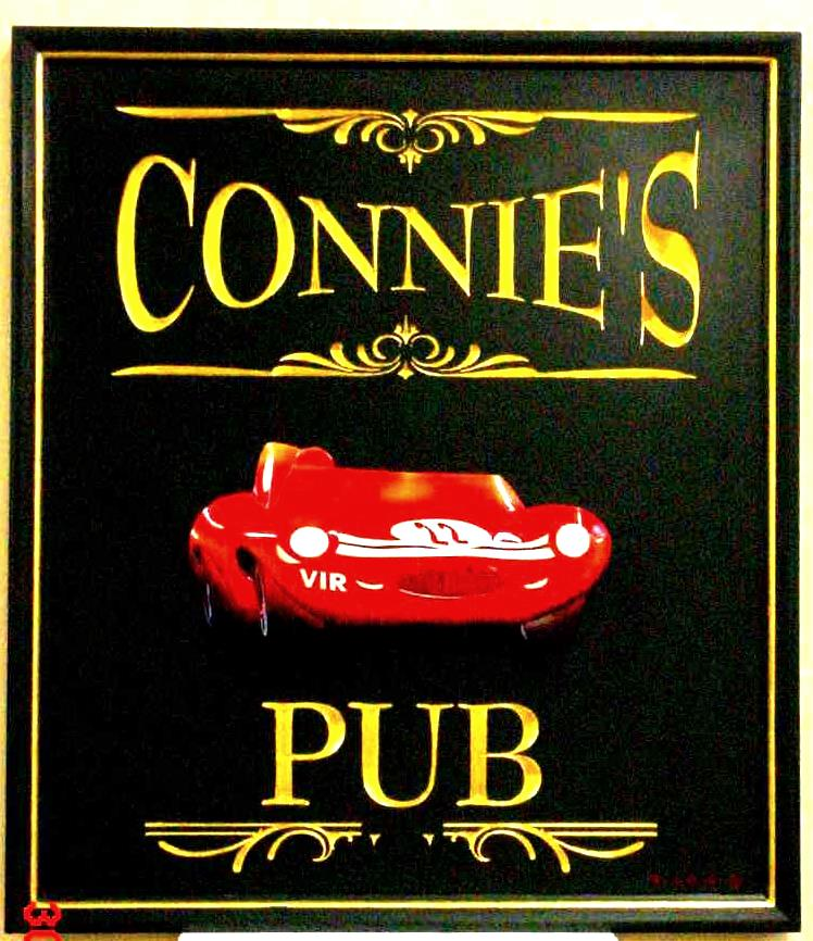 connies pub routed & handcarved pub sign from classic signs nc 748x866
