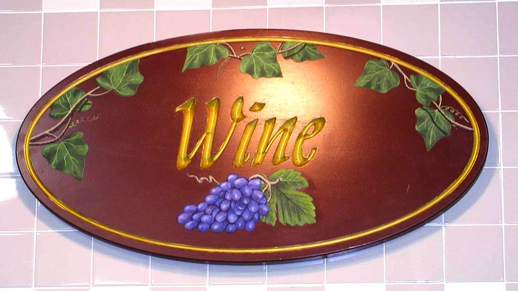 wine sign hand carved hand painted hdu sign gold paint classic signs nc 1024x575