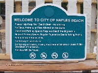 Naples beach signs cast molded Polyester hurricane and vandal resistant dimensional sign from classic signs nc 200x150