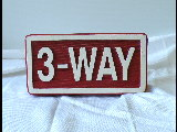 3way redwood style molded cast sign with threaded rods classic signs nc 160x120