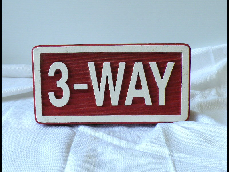 3way redwood style molded cast sign with threaded rods classic signs nc 800x600