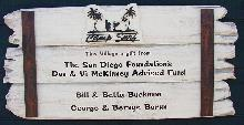 beach club driftwood molded cast sign blank classic signs nc 220x113