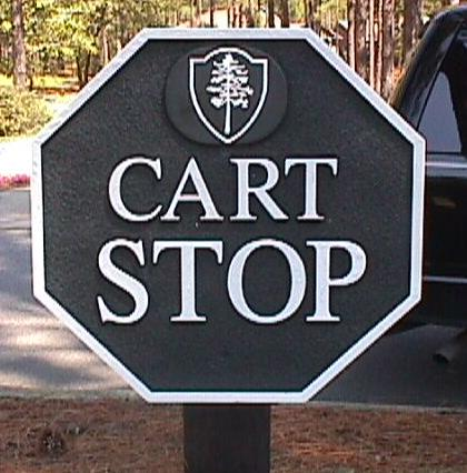 cartstop molded cast polyester hdu golf sign classic signs nc