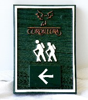 cordillera custom molded cast hiking trail sign classic signs nc 180x205
