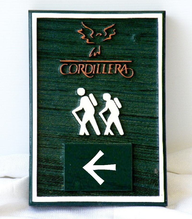 cordillera custom molded cast hiking trail sign classic signs nc 800x912