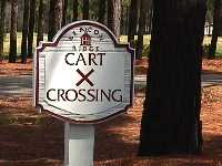 golf sign sandblast style custom cast hdu cart crossing sign from classic signs nc200x150