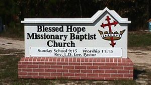 blessed hope custom eps stucco church sign appliqued acrylic letters classic signs nc 300x169