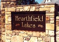 hearthfield hdu custom swirled gold leaf letters community subdivision sign classic signs nc 200x141