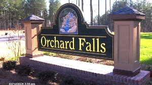 orchard falls 2 community sub division sign hdu sandblasted 23kt gold classic signs nc 300x169