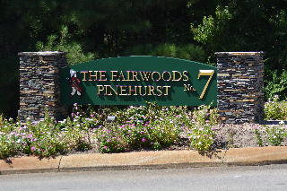 pinehurst fairwoods 7 community entrance sign with gold prismatic lettering classic signs nc320x240