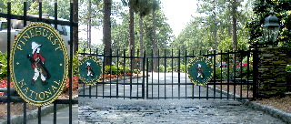 pinehurst national 9 security gate community signs sandblasted 3d sign classic signs nc320x240