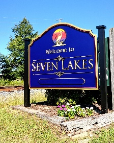 seven lakes community city entrance sign 23kt gold prismatic letters classic signs nc 290x000
