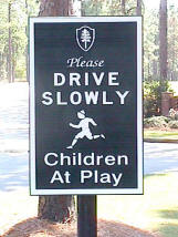 children at play custom sandblasted community sign classic signs nc small