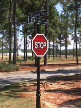 victorian style st name and stop sign classic signs nc small
