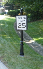 victoriana speed limit sign base finial fluted post sign backer classic signs nc 152x240