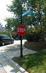 victoriana stop sign with finial base fluted post st signs 150x240