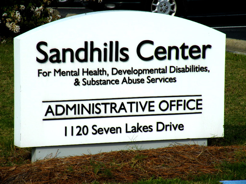 sandhills center custom cut pvc letters on hdu sign monument classic signs nc 800x600
