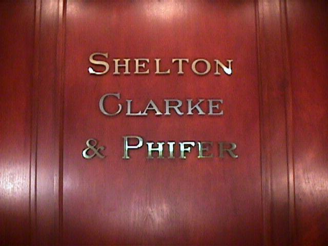 shelton law offices custom brass faced letters clasic signs nc 640x480