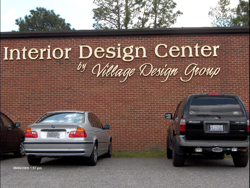 village design custom cut hdu sandblasted letters gold leaf classic signs nc 800x600
