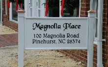 magnolia place 2 pvc sign with acrylic letters classic signs nc 220x136