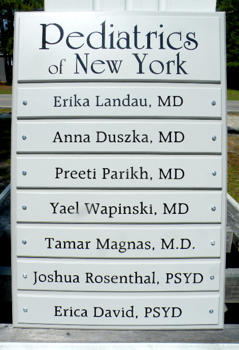 pvc directory sign with removable panels pediatrics classic signs nc 1024x768