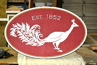 peacock farm sandblasted hdu barn sign classic signs nc