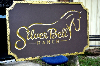 silverbell v grove routed hdu ranch sign 23kt gold leaf signblasters com320x240