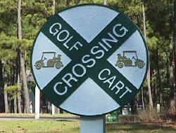 carts crossing cast polyester or hdu golf course sign from classic signs nc­ sm