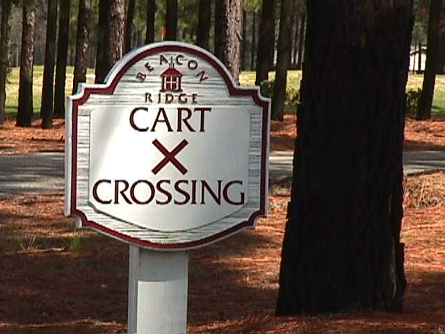 golf sign sandblast style custom cast hdu cart crossing sign from classic signs nc