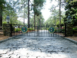 pinehurst national 9 security gate community signs sandblasted 3d sign classic signs nc 320x240