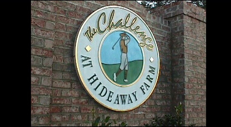 the challeneg golf club entrance sign custom sandblasted hdu golf classic signs nc 760x421